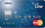 mbna TrueLine MasterCard credit card canada
